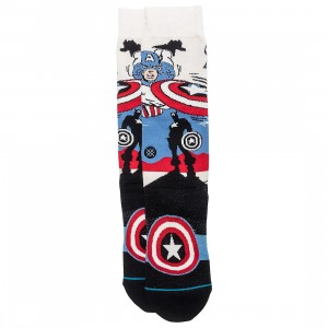 Stance x Captain America Men Captain America Marquee Socks (white / off white)