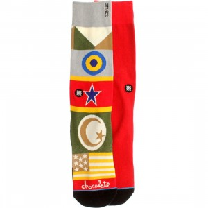 Stance Chocolate Flags Socks (red)