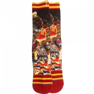 Stance Dominique Wilkins Socks (red / yellow)