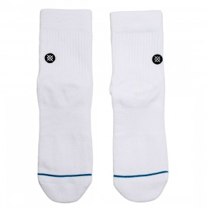Stance Men Icon Quarter Socks (white / black)