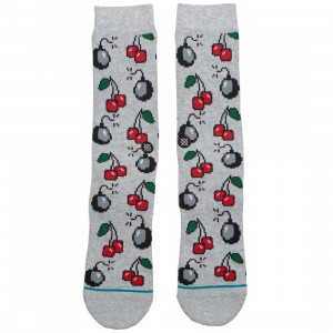 Stance Men Cherri Bomb Socks (gray / heather)