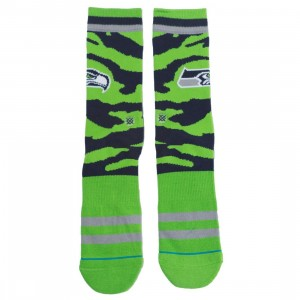 Stance x NFL Men Seattle Seahawk Tigerstripe Socks (green)
