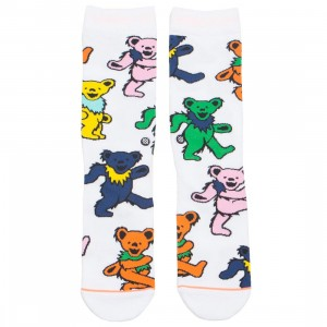 Stance x Grateful Dead Women Bears Choice Socks (white)