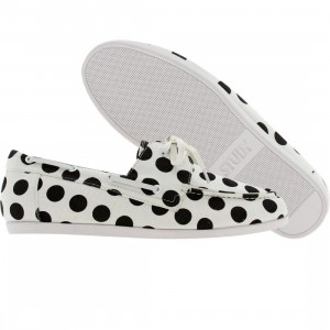 Study The Dock (white / black polka dot)