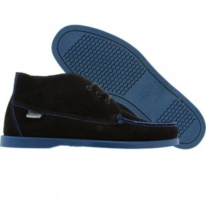Sebago Waterbury (black / navy suede)