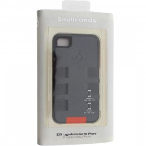 Skullcandy iPhone 4 And 4S Exo Ruggedized Case (charcoal / orange)