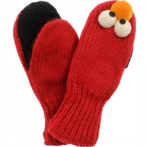 Sesame Street Kids Elmo Mittens (red)