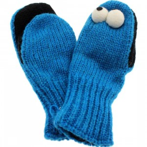 Sesame Street Kids Cookie Monster Mittens (blue)