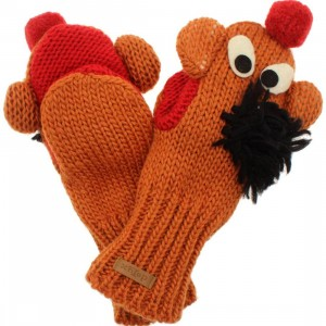 Sesame Street Kids Ernie Mittens (orange)
