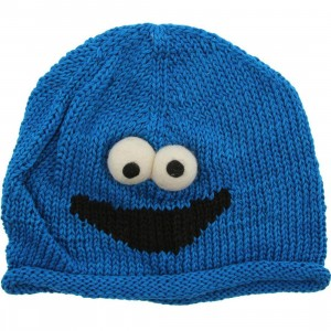 Sesame Street Kids Cookie Monster Beanie (blue)