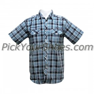 Sneaktip Cobra Short Sleeve Shirts (navy plaid)