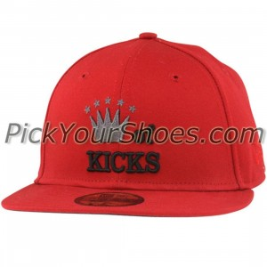Sneaktip King of Kicks New Era Fitted Cap (red)