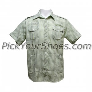 Sneaktip Cobra Short Sleeve Seersucker Shirts (green)