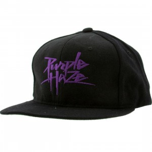 Sneaktip Purple Haze Snapback Cap - 420 Pack (black)