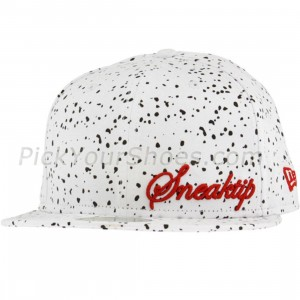 Sneaktip Speckle New Era Fitted Cap (white)