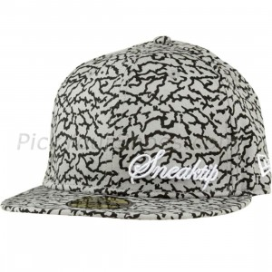Sneaktip Crackle New Era Fitted Cap (grey)