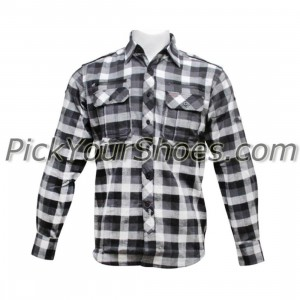 Sneaktip Flannel (black / white plaid)