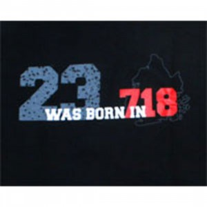 Sneaktip 23 Was Born in 718 Tee (black)