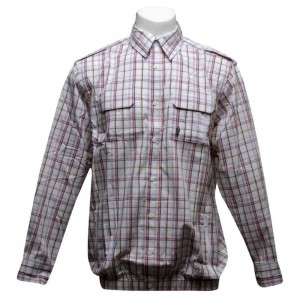 Sneaktip Shirt Jacket (cream plaid)