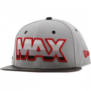 Sneaktip Max 95 New Era Fitted Cap (grey / red)