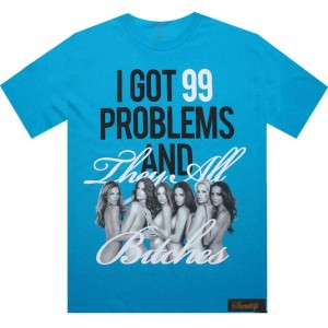Sneaktip 99 Problems And They All Bitches Tee (teal)