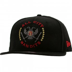 Sneaktip All City Bandits New Era Snapback Cap (black / red)