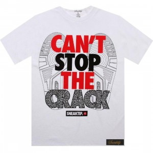 Sneaktip Cant Stop The Crack Tee - Retro 3 (white)