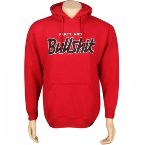 Sneaktip Party And Bullshit Pullover Hoody (red)