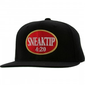Sneaktip Philly Blunts ST Logo Snapback Cap - 420 Pack (black)