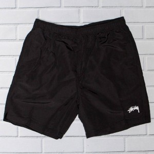 Stussy Men Stock Elastic II Waist Shorts (black)