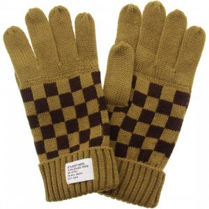 Stussy Checkerboard Gloves (brown)