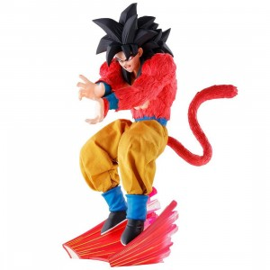 MegaHouse Dimension Of Dragon Ball Over Drive Super Saiyan 4 Son Goku PVC Figure (red)
