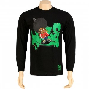 Stussy Afro Long Sleeve Tee (black)