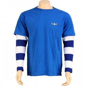 Stussy Double Aviator Wings Long Sleeve Tee (blue)