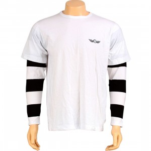 Stussy Double Aviator Wings Long Sleeve Tee (white)