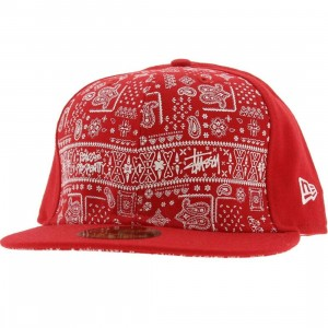 Stussy Bandito New Era Fitted Cap (red)