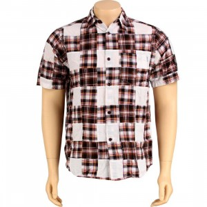 Stussy Buffalo Patch Short Sleeve Shirt (brown)