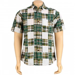 Stussy Buffalo Patch Short Sleeve Shirt (green)
