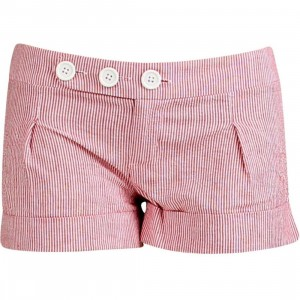 Stussy Womens Cuffed Girl Shorty Shorts (red)