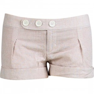Stussy Womens Cuffed Girl Shorty Shorts (tan)