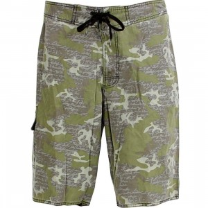 Stussy Destiny Camo Board Shorts (green)