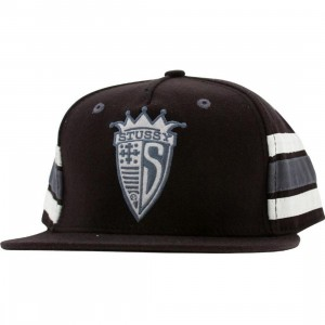 Stussy Guru Shield Snapback Cap (black)