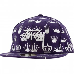 Stussy History Crownz New Era Fitted Cap (purple)