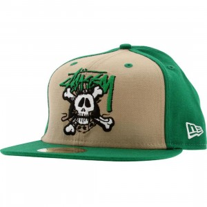 Stussy Icon Mash Up New Era Fitted Cap (green)