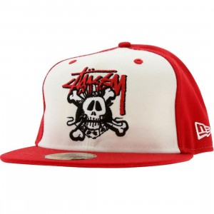 Stussy Icon Mash Up New Era Fitted Cap (red)