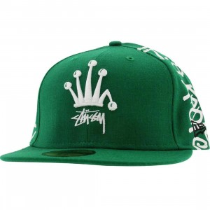 Stussy Irie Roots New Era Fitted Cap (green)