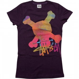 Stussy Womens Crossbone Tee (purple)