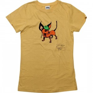 Stussy Womens Hat Dog Tee (yellow)