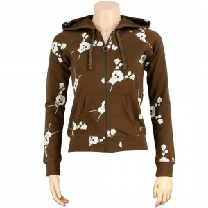Stussy Womens Skullacon Hoody (brown)