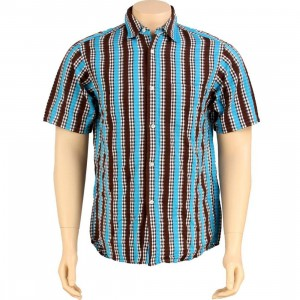 Stussy Mad Plaid Short Sleeve Shirt (brown)